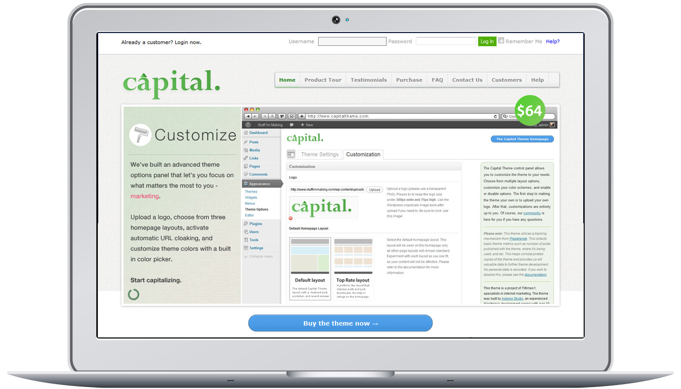 Capital Theme Project Image